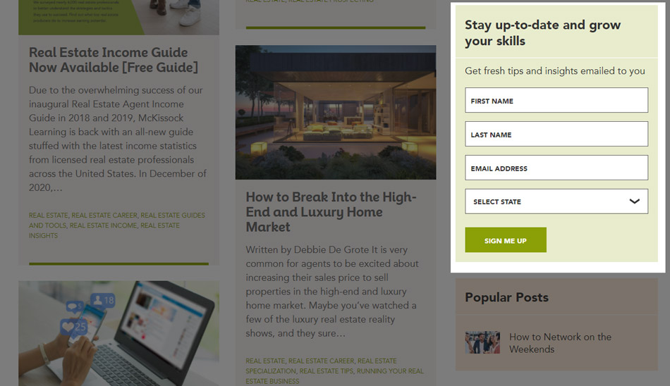 Real Estate Lead Generation Ideas: news-letter