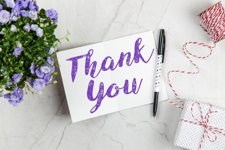 Real Estate Lead Generation Ideas: Write a thank you letter