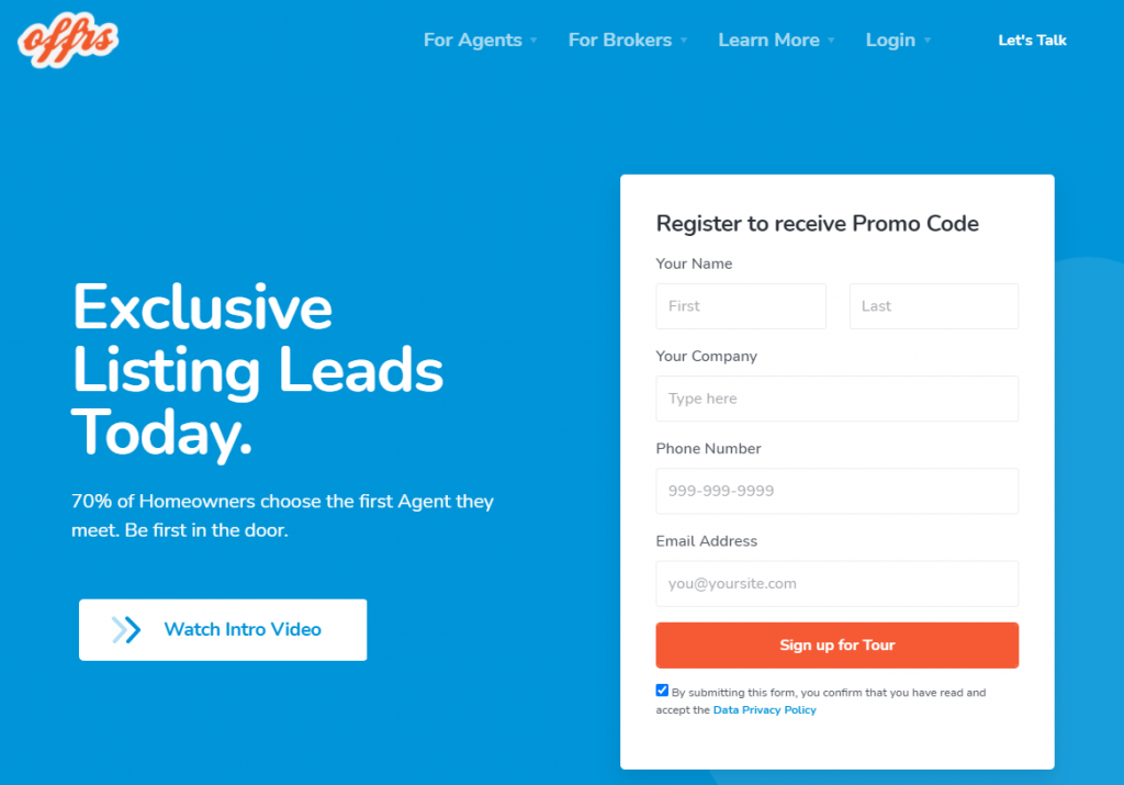 offrs real estate lead generation companies