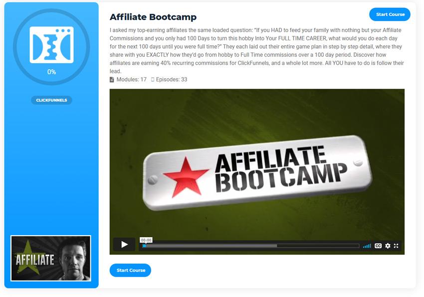 Affiliate bootcamp funnel flix