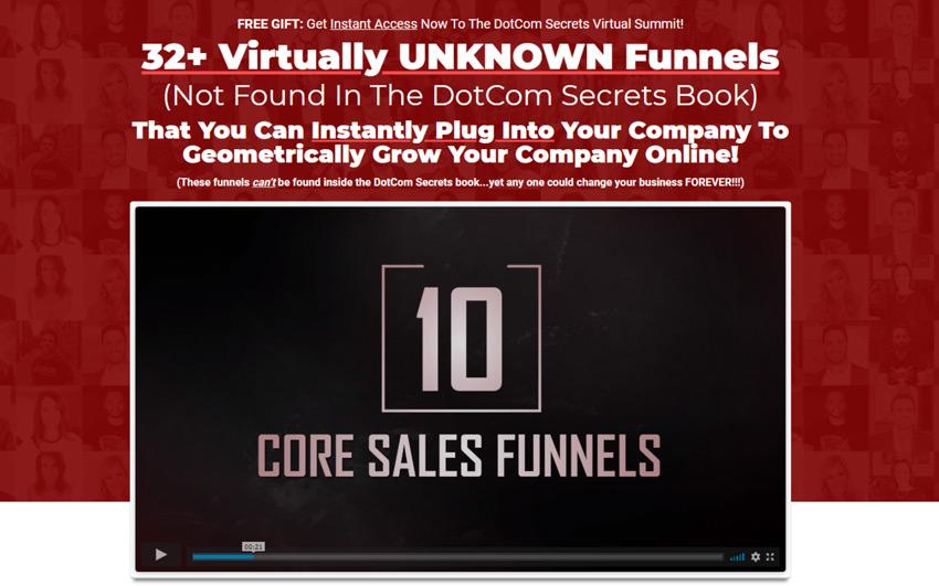 Dotcom Secrets summit review homepage