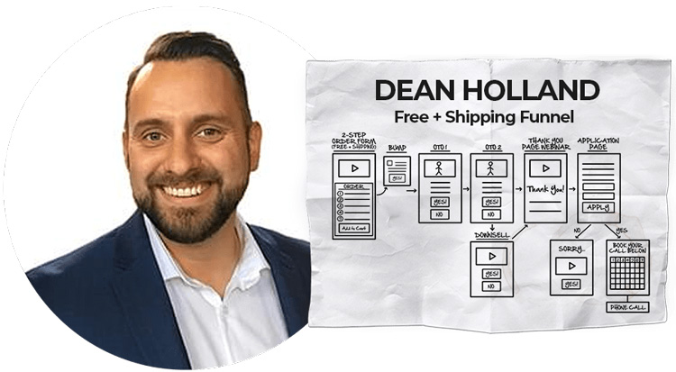 dean holland free shipping funnel