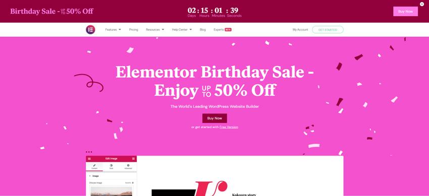 Elementor sales off