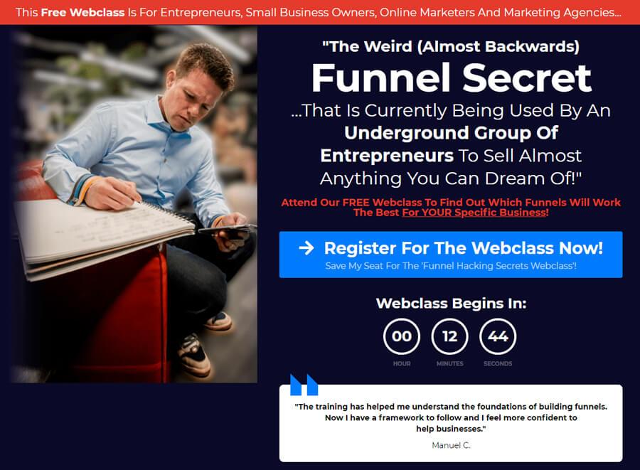 Funnel Hacking Secrets Masterclass webinar