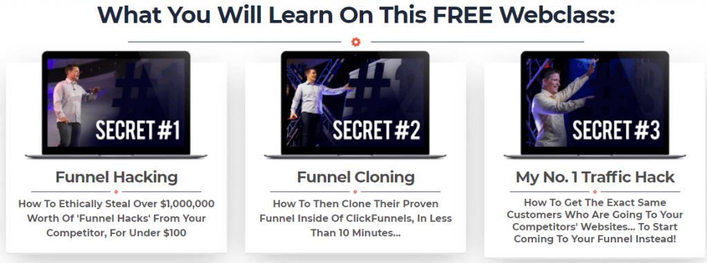Funnel Hacking Secrets webinar training