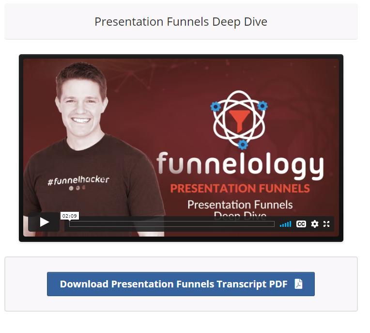 Presentation funnel training