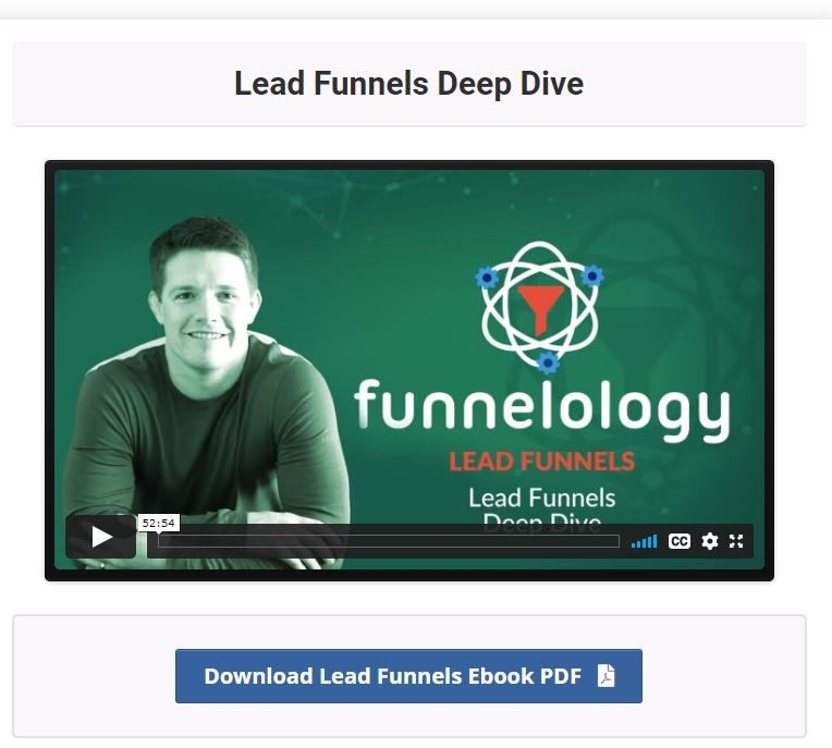 lead Funnels training inside funnel hacks course