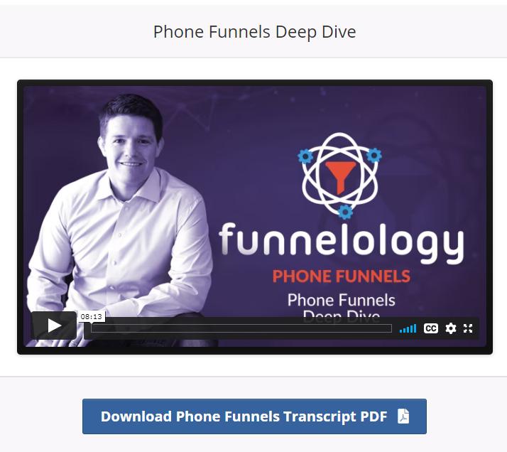 phone funnels training