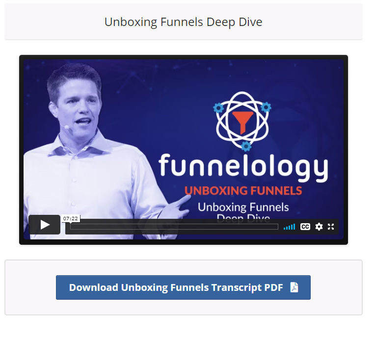 Unboxing funnel training in Funnel hacking masterclass
