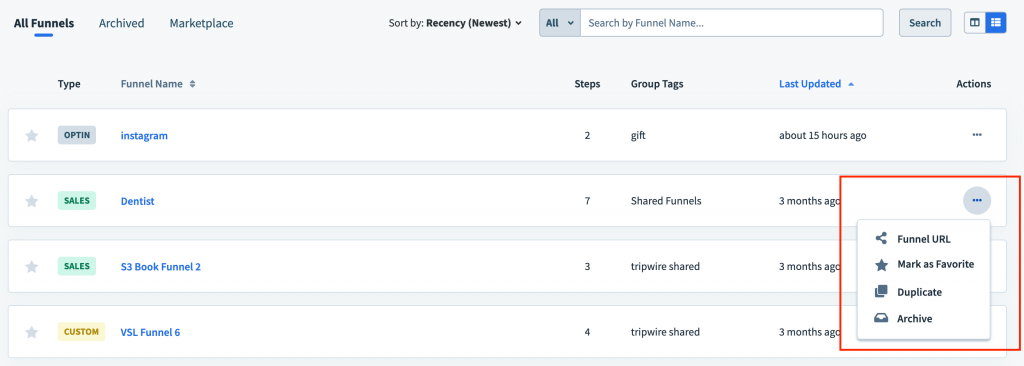 How to delete funnels in Clickfunnels 2
