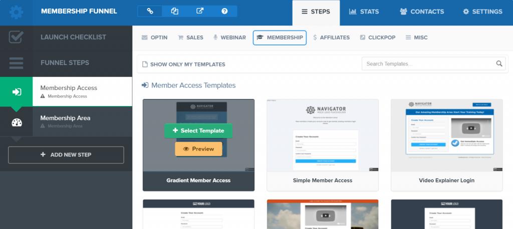 Clickfunnels membership builder