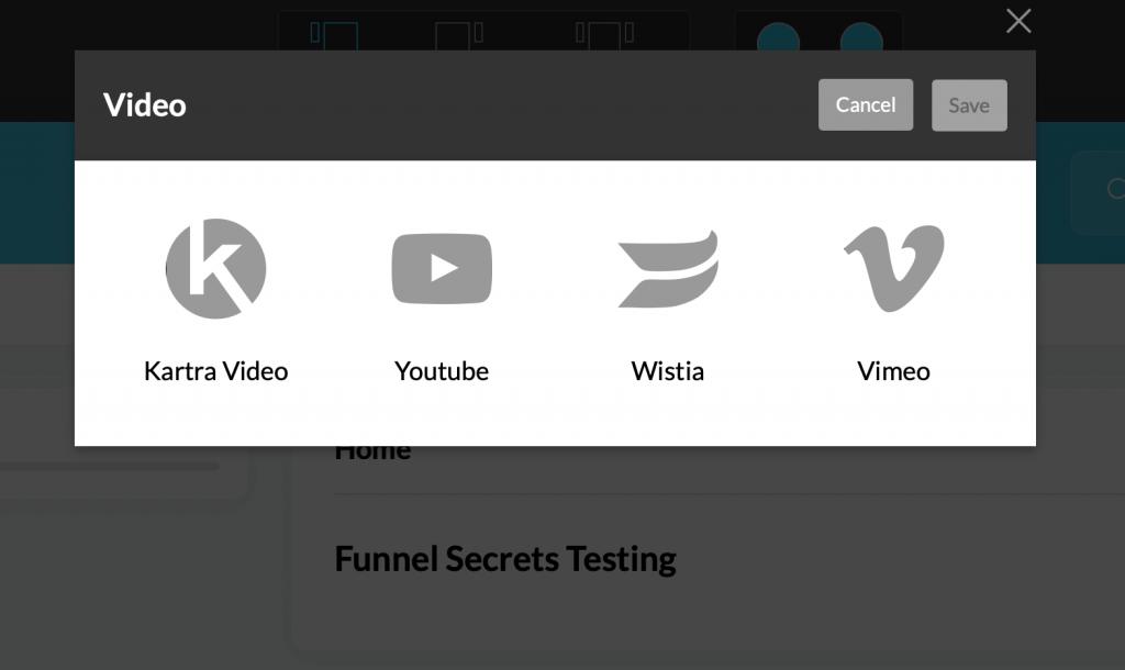 Kartra host video