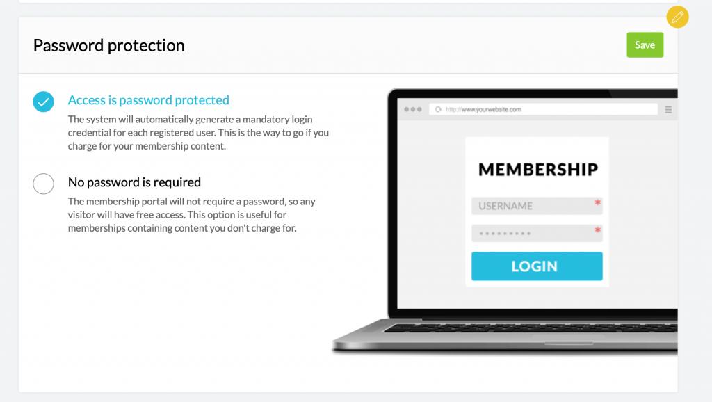 Kartra login page password setting